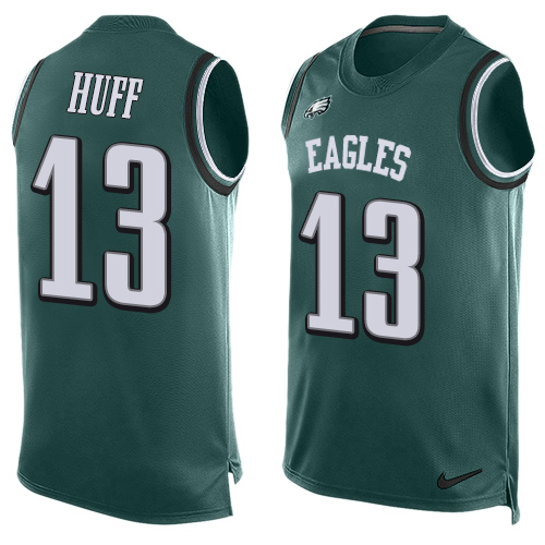 Josh Huff Nike Philadelphia Eagles Limited Green Midnight Player Name & Number Tank Top Jersey